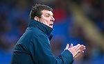 St Johnstone v Motherwell&hellip;20.02.16   SPFL   McDiarmid Park, Perth<br />Tommy Wright applauds his players<br />Picture by Graeme Hart.<br />Copyright Perthshire Picture Agency<br />Tel: 01738 623350  Mobile: 07990 594431