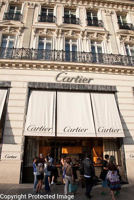 Cartier; Champs Elysees; Paris; France; Europe