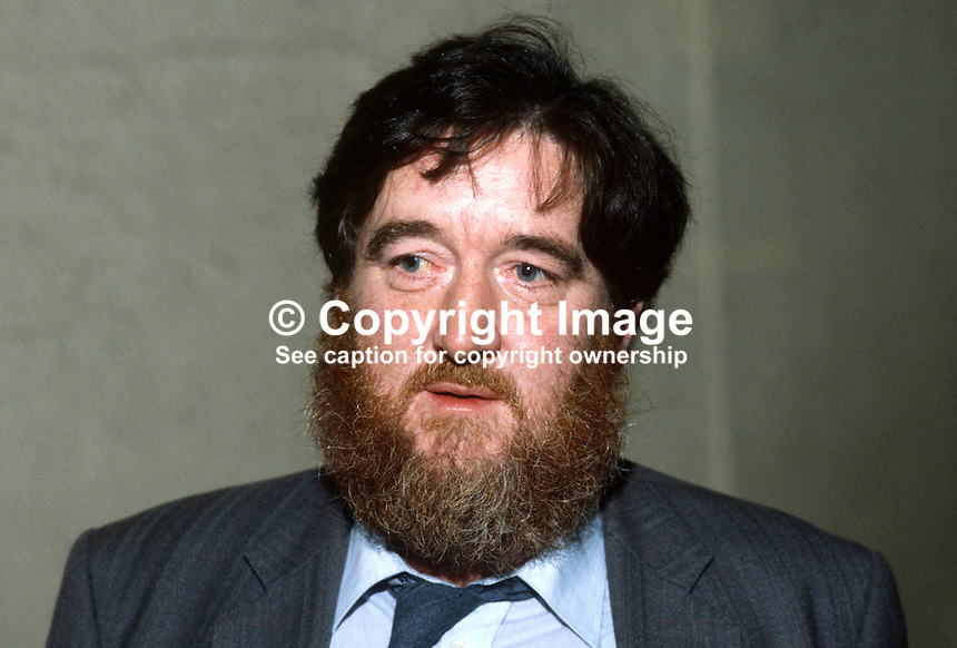 John Joe O'Neill, bar owner, Bundoran, Co Donegal, Rep of Ireland, prominent member of Sinn Fein, attendee, annual conference, Ard Fheis, 1984. 19840131JJON1..Copyright Image from Victor Patterson, 54 Dorchester Park, Belfast, UK, BT9 6RJ..Tel: +44 28 9066 1296.Mob: +44 7802 353836.Voicemail +44 20 8816 7153.Skype: victorpattersonbelfast.Email: victorpatterson@me.com.Email: victorpatterson@ireland.com (back-up)..IMPORTANT: If you wish to use this image or any other of my images please go to www.victorpatterson.com and click on the Terms & Conditions. Then contact me by email or phone with the reference number(s) of the image(s) concerned.