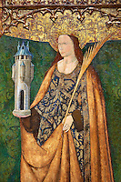 Gothic Altarpiece of Saint Barbara, 3rd quarter of the 15th century, tempera and gold leaf on for wood.  National Museum of Catalan Art, Barcelona, Spain, inv no: MNAC   114746-7.