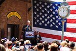 May 4, 2008. Marion, NC.. Just 2 days before the North Carolina primary, former president Bill Clinton campaigned across rural western North Carolina, stumping for his wife. Senator Hillary Clinton, in her drive for rural and working class votes.. Former President Clinton was greeted by cheers and gave an hour long speech covering health care, the gas tax and bringing jobs back to the rural US, a the Marion train depot.