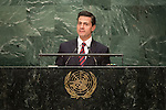 Mexico<br /> H.E. Mr. Enrique Pe&ntilde;a Nieto<br /> President<br /> <br /> General Assembly Seventy-first session: Opening of the General Debate 71 United Nations, New York