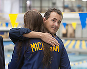The University of Michigan women's swimming and diving team beat Toledo, 161-80, in a dual meet at Canham Natatorium in Ann Arbor, Mich., on February 8, 2013.