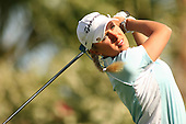 March 25, 2005; Rancho Mirage, CA, USA;  Natalie Gulbis tees off during the second round of the LPGA Kraft Nabisco golf tournament held at Mission Hills Country Club.  <br />