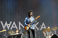 LONDON, ENGLAND - JULY 3: Michael Kiwanuka performing at British Summertime, Hyde Park on July 3, 2016 in London, England.<br /> CAP/MAR<br /> &copy;MAR/Capital Pictures /MediaPunch ***NORTH AND SOUTH AMERICAS ONLY***