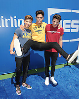 FLUSHING NY- AUGUST 27: Emery Kelly, Liam Attridge and Ricky Garcia of Forever In Your Mind attend Arthur Ashe kids day at the USTA Billie Jean King National Tennis Center on August 27, 2016 in Flushing Queens. Photo byMPI04 / MediaPunch