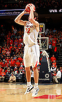 CHARLOTTESVILLE, VA- DECEMBER 6: Joe Harris #12 of the Virginia Cavaliers handles the ball during the game on December 6, 2011 against the George Mason Patriots at the John Paul Jones Arena in Charlottesville, Virginia. Virginia defeated George Mason 68-48. (Photo by Andrew Shurtleff/Getty Images) *** Local Caption *** Joe Harris