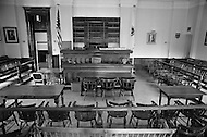 July 19th 1969, Chappaquiddick, Edgartown, Martha's Vineyard, Massachusetts,<br /> The Edgartown District Court where Senator Edward T. Kennedy pleaded guilty on July 25, 1969 for leaving the scene of an accident. Kennedy had driven off a bridge and his aide Mary Jo Kopechne was killed.
