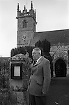 Key Auction  Great Wishford, Wishford Magna, Wiltshire England 1975 Clerk to the Parish Council auctioning the grazing rights for the following year at dusk on Rogation Monday. Usually April.