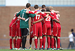 27 November 2011: Indiana's starters huddle before the start of the game. The University of North Carolina Tar Heels defeated the Indiana University Hoosiers 1-0 in overtime at Fetzer Field in Chapel Hill, North Carolina in an NCAA Men's Soccer Tournament third round game.