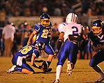 Oxford High's Cody Mills (29) vs. Saltillo in Oxford, Miss. on Friday, October 19, 2012. Oxford won to improve to 9-0.