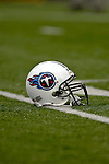 24 December 2006: Tennessee Titans helmet lies on the field prior to a game against the Buffalo Bills at Ralph Wilson Stadium in Orchard Park, New York. The Titans edged out the Bills 30-29.&amp;#xA; &amp;#xA;Mandatory Photo Credit: Ed Wolfstein Photo<br />