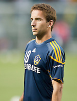 CARSON, CA – May 7, 2011: LA Galaxy midfielder Mike Magee (18) before the match between LA Galaxy and New York Red Bull at the Home Depot Center, May 7, 2011 in Carson, California. Final score LA Galaxy 1, New York Red Bull 1.
