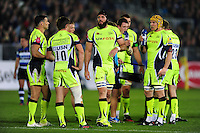 Bryn Evans of Sale Sharks looks on. Aviva Premiership match, between Bath Rugby and Sale Sharks on October 7, 2016 at the Recreation Ground in Bath, England. Photo by: Patrick Khachfe / Onside Images