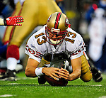 30 November 2008: San Francisco 49ers' quarterback Shaun Hill recovers his own fumble in the 4th quarter against the Buffalo Bills at Ralph Wilson Stadium in Orchard Park, NY. The 49ers defeated the Bills 10-3. ***** Editorial Use Only ******..Mandatory Photo Credit: Ed Wolfstein Photo