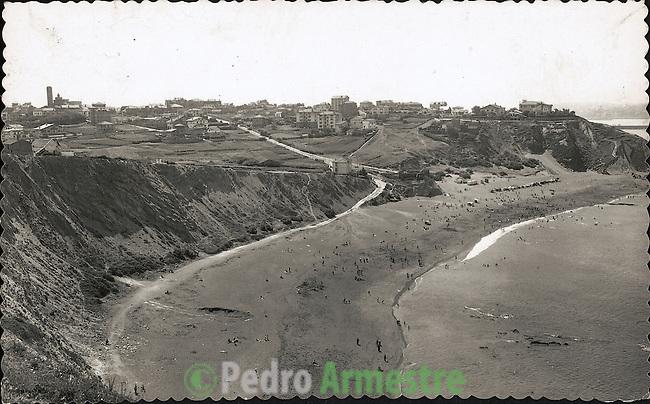 DESTRUCCION A TODA COSTA 2010 (DTC2010) Playa de Algorta. Vizcaya. Aproximación 1950. © Colección personal Pedro Armestre