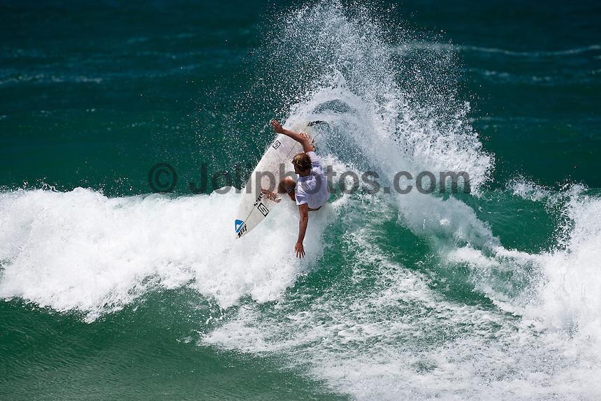 JAY 'BOTTLE 'THOMPSON (AUS) surfing at Burleigh Heads, Queensland, Australia. Photo: joliphotos.com