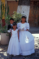 Mexican first communion grouo in the city of Guanajuato, Mexico