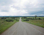 A dirt road to the village of Kuchino where the labor camp Perm-36 was located. Perm province, Russia 2015