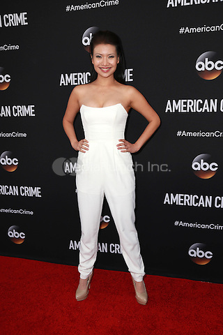 LOS ANGELES, CA - FEBRUARY 28: Gwendoline Yeo at the American Crime Premiere at the Ace Hotel in Los Angeles, California on February 28, 2015. Credit: David Edwards/DailyCeleb/MediaPunch