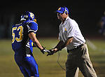 Oxford High coaches Johnny Hill (left)  vs. Senatobia in high school football in Oxford, Miss. on Friday, September 9, 2011. Oxford won 40-20.