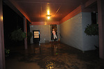 Ann and James huggins house on Chandler Avenue floods following heavy rainfall in Oxford, Miss. on Sunday, May 16, 2010.