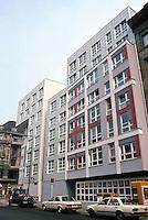Peter Eisenman: Social Housing (IBA) Berlin, 1986. Koch Street, one block from Checkpoint Charlie. (Photo '87)