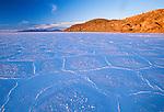 Salt crust, Isla de Pescado, Salar de Uyuni, Altiplano, Bolivia