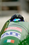 18 November 2005: Aoifie Hoey pilots Ireland 1 to a 21st place finish at the 2005 FIBT AIT World Cup Women's Bobsleigh Tour at the Verizon Sports Complex, in Lake Placid, NY. Mandatory Photo Credit: Ed Wolfstein.