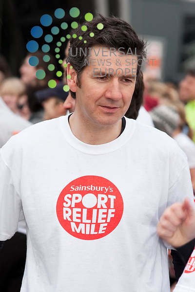 Dougie Vipond (pictured) Celebrities Fred MacAulay, Joe McFadden, Aggie McKenzie and Dougie Vipond join thousands of local runners in the Sainsbury's Sport Relief Mile 2010. ..SECC, Glasgow, Scotland. Picture: Euan Anderson/Universal News And Sport (Scotland) 21th March 2010.
