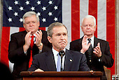 Washington, DC - September 20, 2001 -- U.S. President George W. Bush spoke before a Joint Session of Congress to detail his plan to combat terrorism..Credit: Win McNamee - Pool / CNP