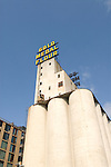 Minnesota, Twin Cities, Minneapolis-Saint Paul: Mill City Museum, showing flour milling history in Minneapolis.  Grain elevators are part of the museum..Photo mnqual255-74900..Photo copyright Lee Foster, www.fostertravel.com, 510-549-2202, lee@fostertravel.com.