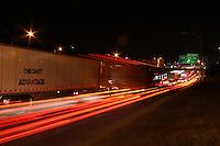 Austin Traffic moves along Interstate 35 at night