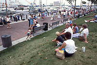 1985 June ..Redevelopment.Downtown South (R-9)..PEOPLE AT WATERSIDE...NEG#.NRHA#..