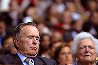 SAINT PAUL, MN - September 2, 2008: George H. W. Bush and Barbara Bush, at the 2008 Republican National Convention in St. Paul, Minnesota.