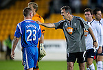 St Johnstone v Bolton....02.08.10  Pre-Season Friendly.Owen Coyle gives Andy Jackson a pat on the back at full time.Picture by Graeme Hart..Copyright Perthshire Picture Agency.Tel: 01738 623350  Mobile: 07990 594431
