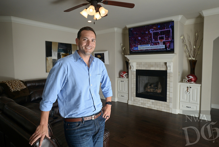 NWA Democrat-Gazette/BEN GOFF @NWABENGOFF<br /> John Sampson poses for a photo on Thursday June 2, 2016 in his favorite personal space, the living room of his Rogers home.
