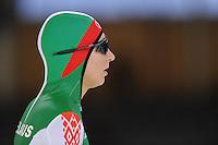 SCHAATSEN: BERLIJN: Sportforum, 06-12-2013, Essent ISU World Cup, 500m Ladies Division B, Ksenia Sadovskaya (BLR), ©foto Martin de Jong