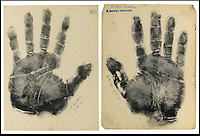 BNPS.co.uk (01202) 558833.Picture: collect..The handprint of Albert Einstein..An incredible collection of signed handprints of famous names from 1920s Germany including Albert Einstein and Marlene Deitrich has come to light. Prints of composers Richard Strauss and Igor Stravinsky, filmmaker Fritz Lang, painter Max Liebermann, playwright Bertolt Brecht and gay rights pioneer Magnus Hirschfeld also feature in the fascinating set by German palmist Marianne Raschig. ..She spent 60 years taking more than 2,000 handprints of around 1,000 leading artists, actors, scientists, musicians and writers in Berlin. Raschig collected the handprints between the 1870s and 1930s for a study into what the lines and shapes of hands could reveal about a person's character. Her collection is now set to sell for more than £90,000 at auction.