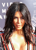 LOS ANGELES, CA, USA - AUGUST 24: Kim Kardashian at the 2014 MTV Video Music Awards held at The Forum on August 24, 2014 in the Los Angeles, California, United States. (Photo by Xavier Collin/Celebrity Monitor)
