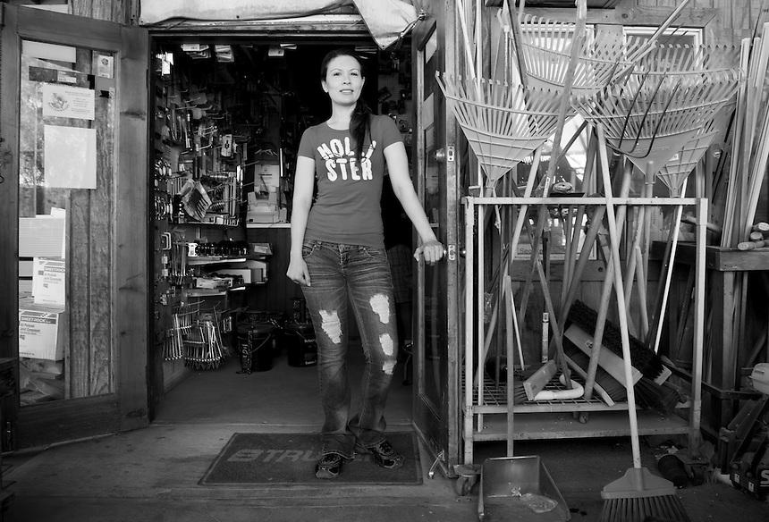 Fiorisel Perez Sainz. Hardware store owners in San Felipe, Baja California Norte,  Mexico.