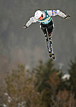 16 January 2009: Kyle Nissen from Canada performs aerial acrobatics during the FIS Freestyle World Cup warm-ups at the Olympic Ski Jumping Facility in Lake Placid, NY, USA. Mandatory Photo Credit: Ed Wolfstein Photo. Contact: Ed Wolfstein, Burlington, Vermont, USA. Telephone 802-864-8334. e-mail: ed@wolfstein.net