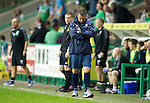 Hibs v St Johnstone...28.09.11   SPL Week.An unhappy Derek McInnes.Picture by Graeme Hart..Copyright Perthshire Picture Agency.Tel: 01738 623350  Mobile: 07990 594431