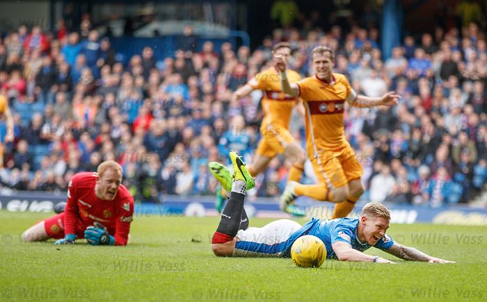 Martyn Waghorn falls in the box
