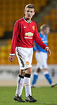 St Johnstone Academy v Manchester United Academy....17.04.15   <br /> Lewis Thompson<br /> Picture by Graeme Hart.<br /> Copyright Perthshire Picture Agency<br /> Tel: 01738 623350  Mobile: 07990 594431