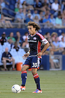 Kevin Alston (30) defender  New England Revolution in action..Sporting Kansas City and New England Revolution played to a 0-0 tie at LIVESTRONG Sporting Park, Kansas City, KS.