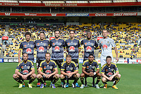 Action from the A League - Wellington Phoenix v Melbourne City at Westpac Stadium, Wellington, New Zealand on Sunday 30 November 2014. <br /> Photo by Masanori Udagawa. <br /> www.photowellington.photoshelter.com.