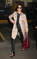 NEW YORK, NY - NOVEMBER 17: Palestinian and Egyptian actress Yasmine Al Massri spotted leaving 'AOL Build' in NYC where she talked about her role in the ABC Television series 'Quantico'  in New York, New York on November 16, 2016.  Photo Credit: Rainmaker Photo/MediaPunch