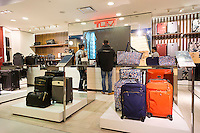 The Tumi boutique in Macy's in New York on Friday, March 4, 2016. Samsonite announced that it has agreed to buy competitor Tumi in a deal worth approximately $1.8 billion. The acquisition provides an entry for Samsonite into the world of expensive, high-end luggage. (© Richard B. Levine)