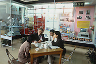October 1984. At the international fair of Guangzhou, discussion with the representatives of foreign firms buyers.